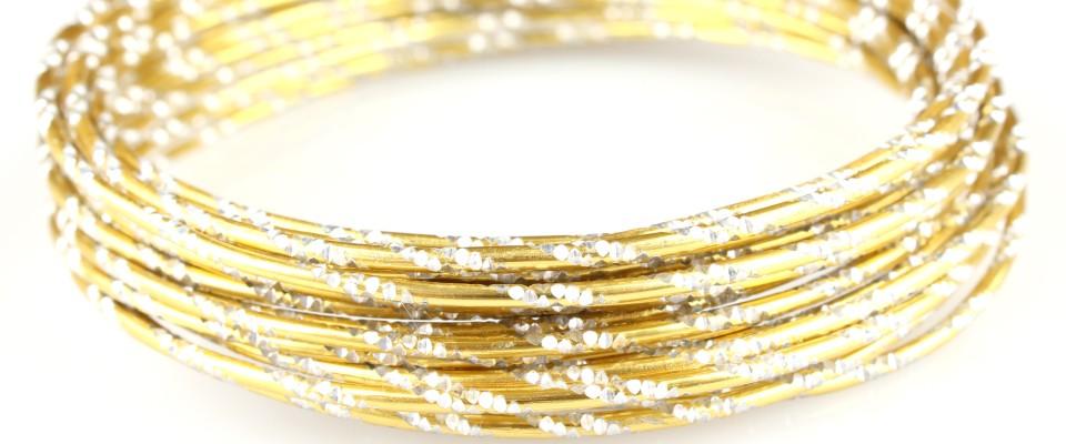 Gold mit Diamant-Effekt