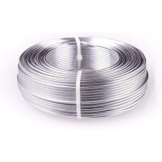 Aluminiumdraht 2 mm x 100 m (10x10 m), Silber