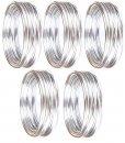 Aluminiumdraht 3 mm x 50 m (5x10 m), Silber