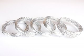 Beading Wire Silver Style Set Ii - 5 Coils of Artistic Aluminum Wire