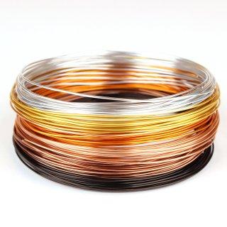 Schmuckdraht-Set Golden Autumn - 6 Farben auf Rollen (je 5m) - Basteldraht Ø 1 mm
