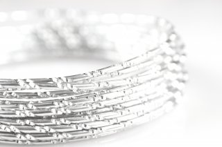 Aluminium Wire with Structured Surface (Diamond Cut 1, Silver)