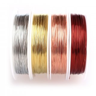 12-Pack Artistic Beading Wire 28-Gauge, Various Colors