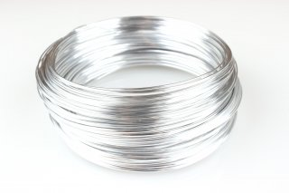 Aluminiumdraht 2 mm x 20 m (2x 10 m), Silber