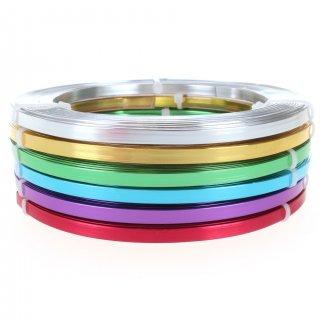 Schmuckdraht-Set Basic Flachdraht - 1 mm x 5 mm - 6 Farben (je 5 m)