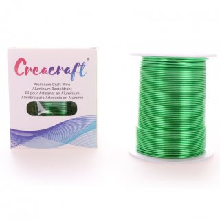 Aluminium Wire 12-Gauge (2mm) - 15 ft (5m) (Green)